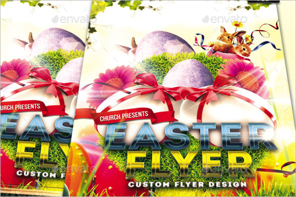 Religious Easter Flyer Template