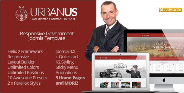 Responsive Government Joomla Template