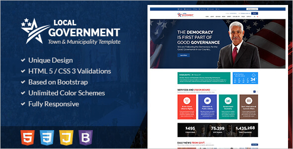 Responsive Government Website Template