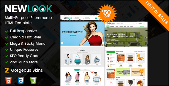 Responsive Multipurpose E-Commerce HTML Template