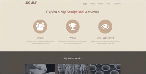 Responsive Sculpture WordPress Template