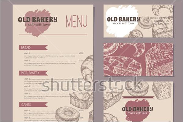 Retro Bakery Menu Template