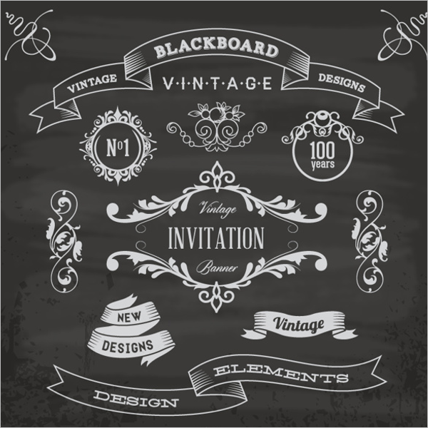 Retro Blackboard Menu Template