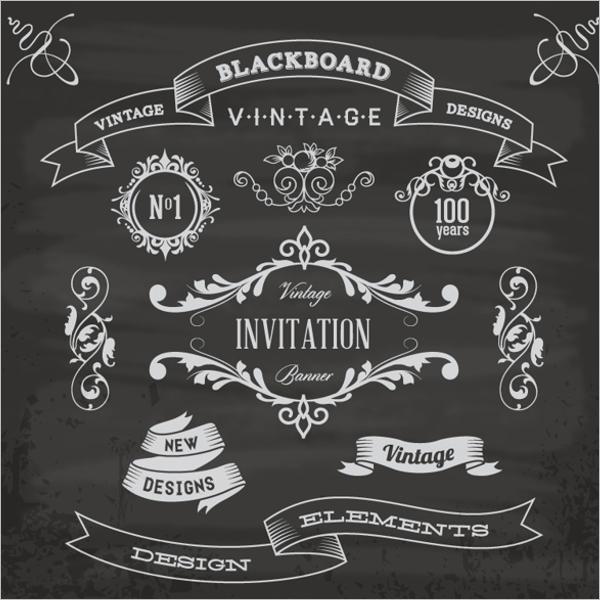 Retro Blackboard Menu Template