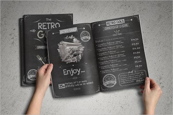 Retro Cafe Menu Template