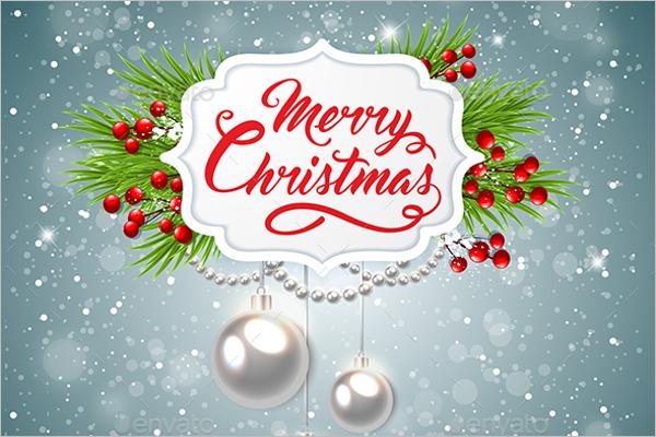 Retro Christmas Banner Design