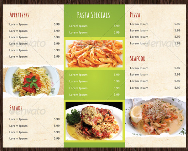 Rustic Carry Out Menu Template