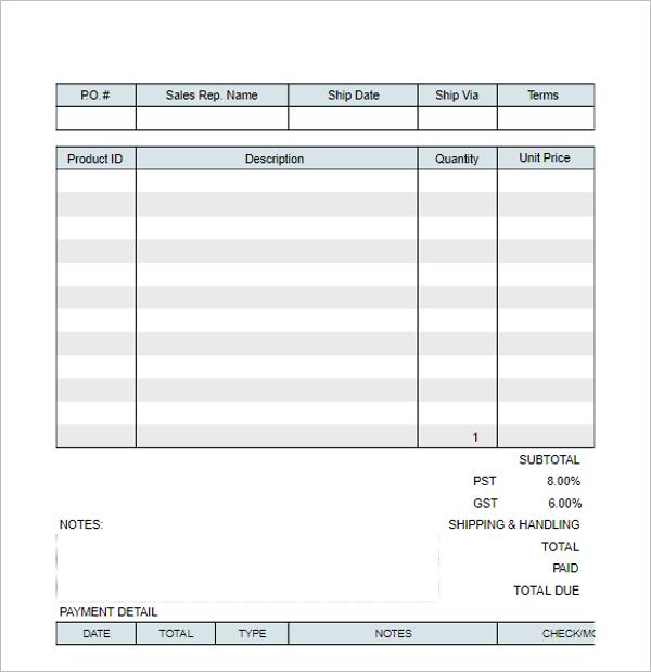 Sales Receipt Template PDF