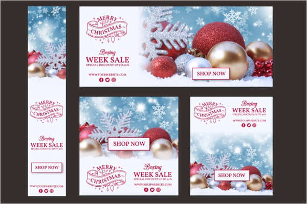 Sample Christmas Sale Banners