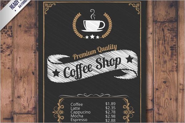 Sample Coffee Menu Template