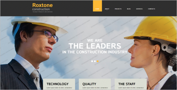 Sample Construction Website Template