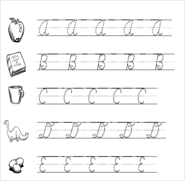 Sample Cursive Writing Practice Template