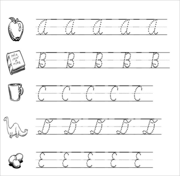 Sample Cursive Writing Practice Template