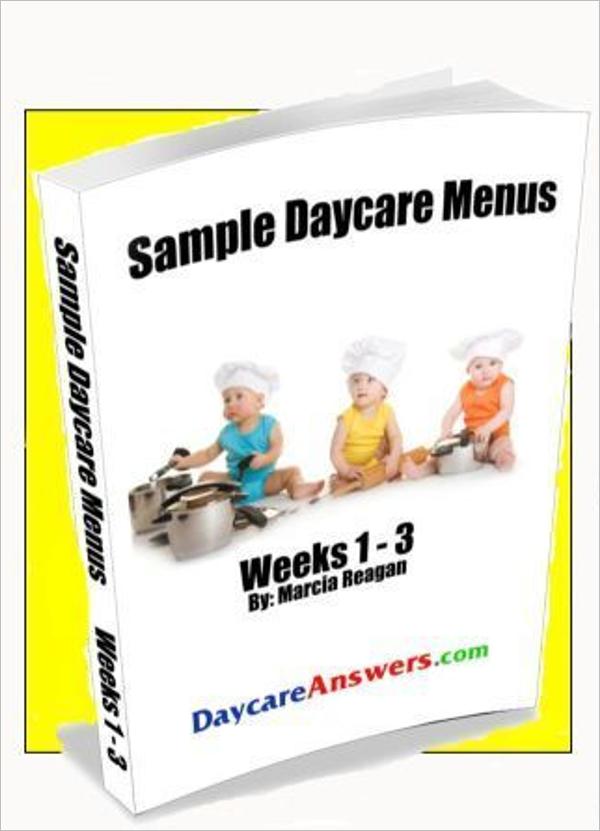 Sample Daycare Menu Template