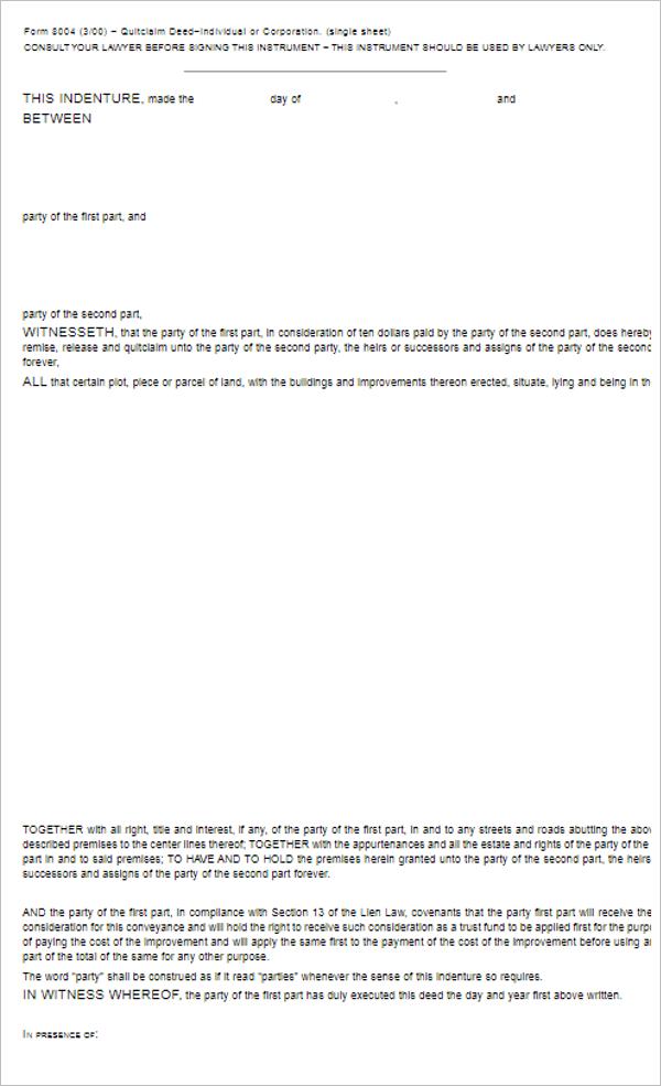Sample Deed Transfer Ownership