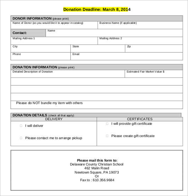 30 Donation Letter Templates Free Word PDF Samples – Donation Receipt Sample