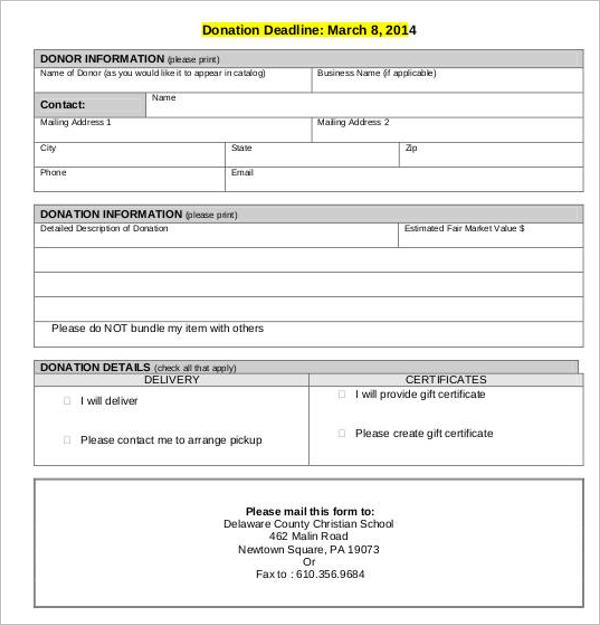 Sample Donation Receipt Letter