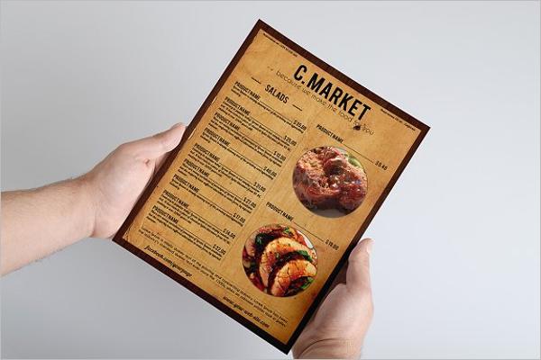 Sample Food Menu Design