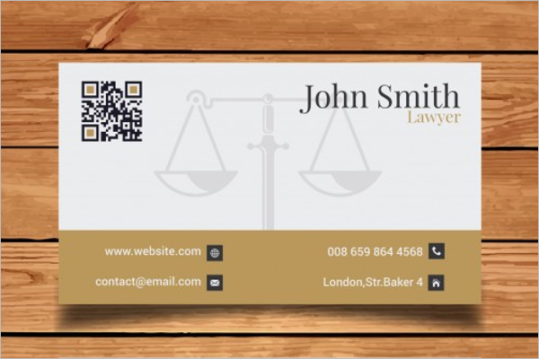 Sample Lawyer Business Card Template
