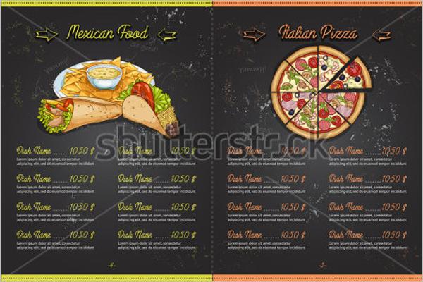 Pizza Menu Template PSD
