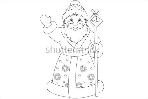 santa claus coloring page