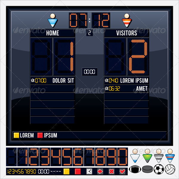 65 scoreboard templates free psd word excel ppt formats for Scoreboard template for powerpoint