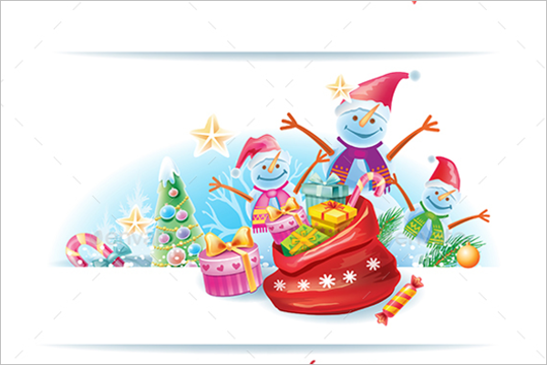 Set Of Christmas Banner Template