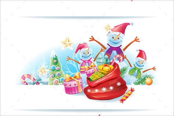 Set Of Christmas Banner Template