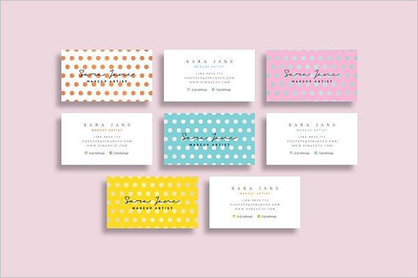 Set of Makeup Business Card Template