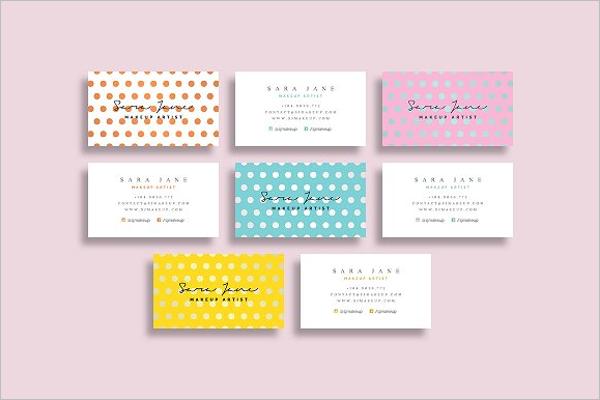 Set of Makeup Business Card Template