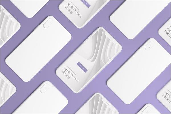 Set of iPhone X Mockup