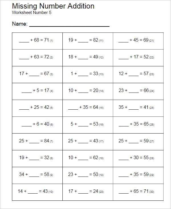 School Worksheet Template Word