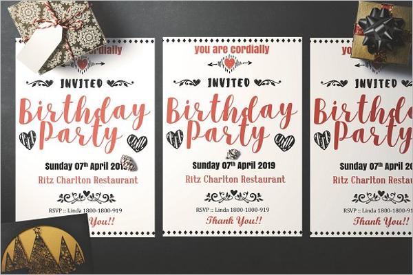 Birthday Flyer Templates Free Costumepartyrun