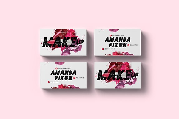 Simple Business Card for Makeup Design