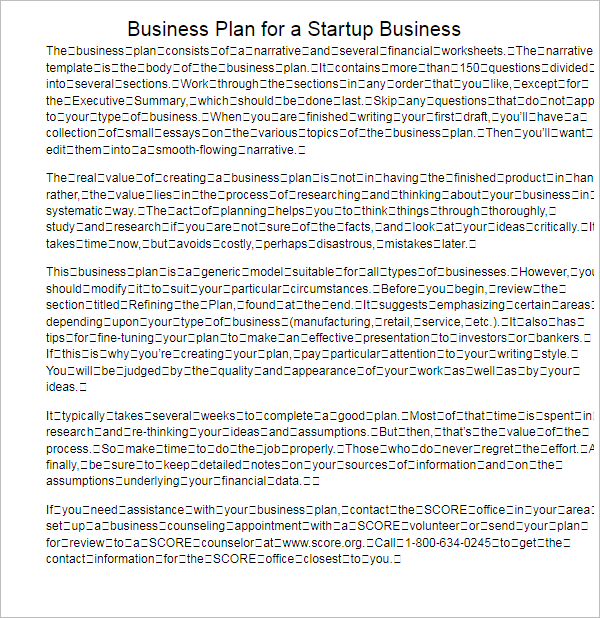 Business Plan Templates Free Word Excel PDF Formats - A simple business plan template