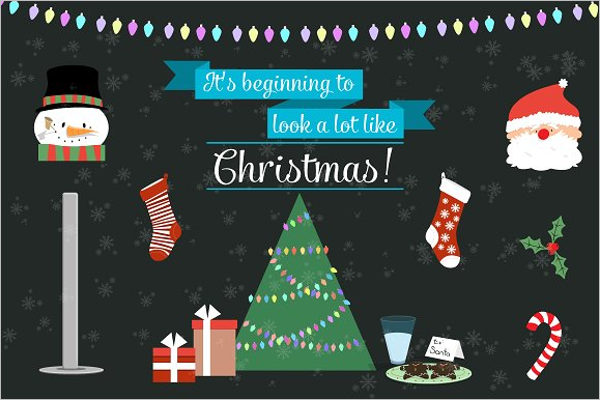 Simple Christmas Icons Vector