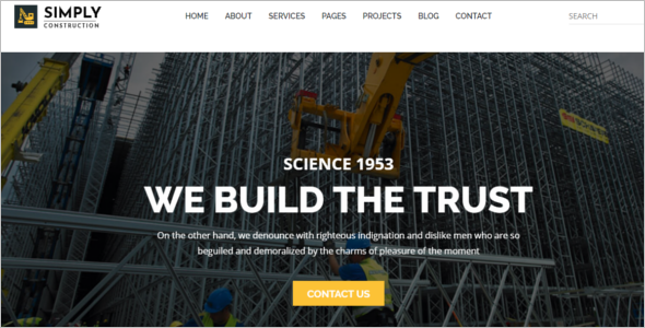 Simple Construction HTML5 Template