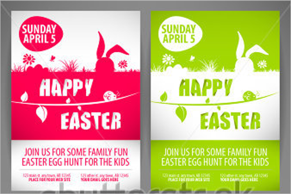 Simple Easter Flyer Template