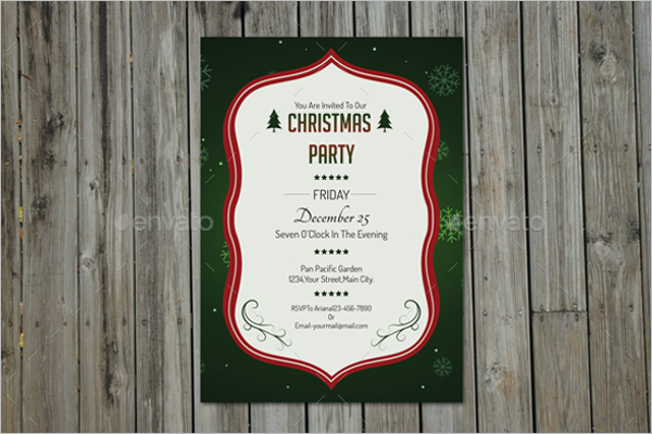 Simple Invitation Letter for Christmas