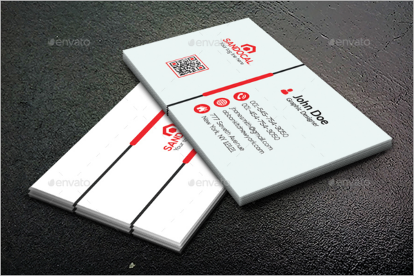 simple office business card template