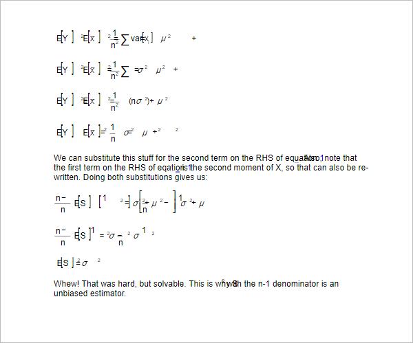 Simple Standard Deviation & Varaiance Word