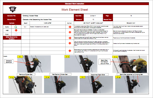 Standard work instructions excel template gallery for Standard work instructions excel template