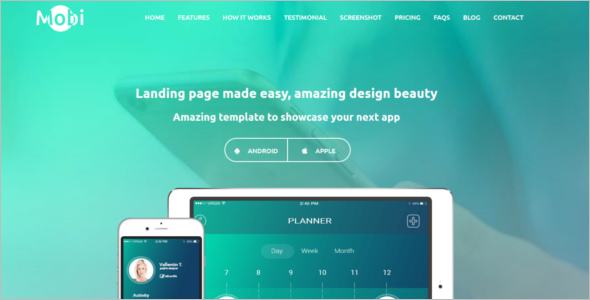 Single Page Website Bootstrap Theme