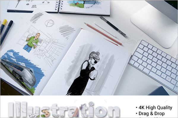 Sketch Book Mockup Template