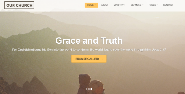 Small Church Website Template