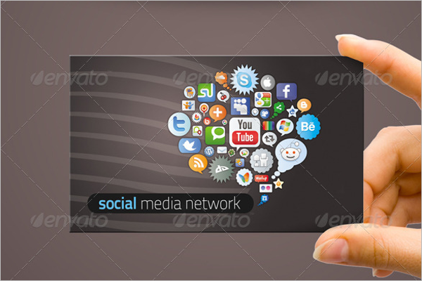 Social Network Business Card Design