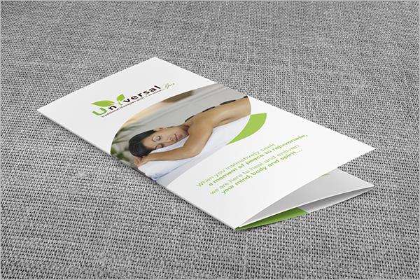 Spa Menu Brochure Design