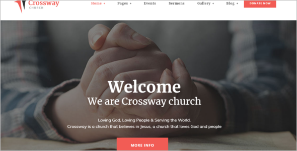 Spiritual Website Template