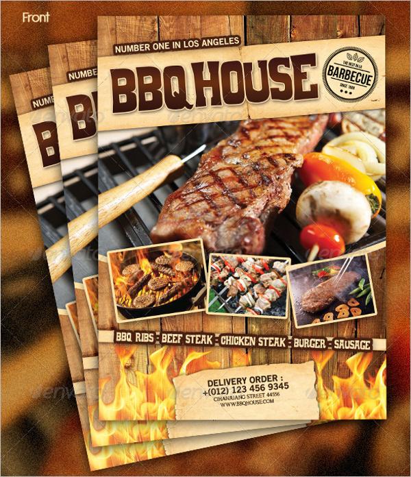 Steakhouse BBQ Menu Template