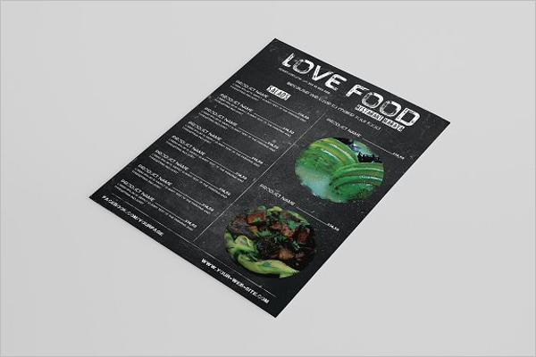 Stylish Food Menu design